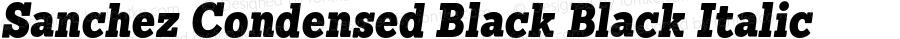 Sanchez Condensed Black Black Italic 1.000