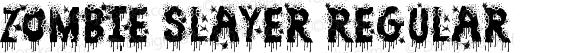 Zombie Slayer Regular Version 1.00 October 3, 2012, initial release
