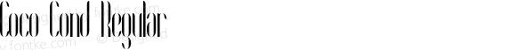 Coco Cond Regular Version 1.000;PS 001.001;hotconv 1.0.56