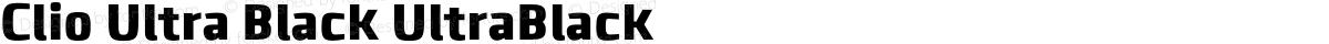 Clio Ultra Black UltraBlack