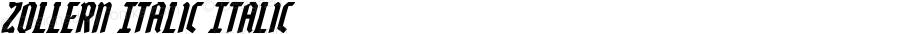 Zollern Italic Italic Version 1.0; 2012