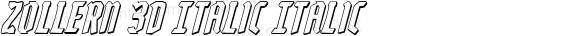 Zollern 3D Italic Italic Version 1.0; 2012