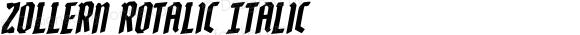 Zollern Rotalic Italic Version 1.0; 2012