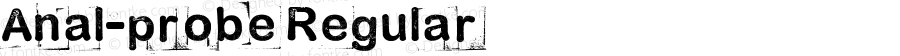 Anal-probe Regular Version 1.00 October 30, 2012, Another rubber-stamp release