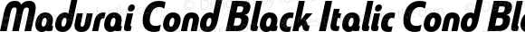 Madurai Cond Black Italic Cond Black Italic