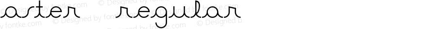 Aster 2 Regular Version 1.000 2012 initial release