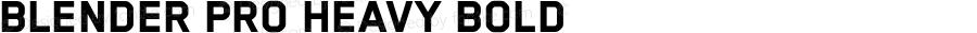Blender Pro Heavy Bold Version 3.006 2009