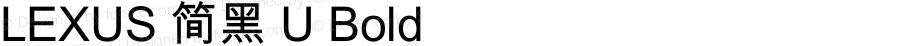 LEXUS 简黑 U Bold 2.40
