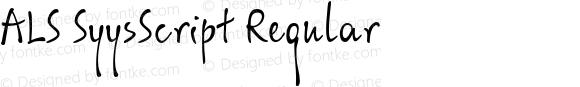 ALS SyysScript Regular
