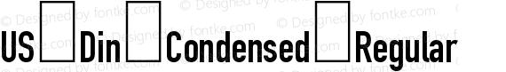US Din Condensed Regular preview image