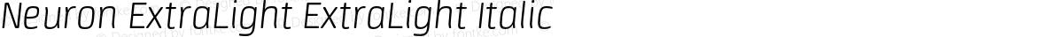Neuron ExtraLight ExtraLight Italic