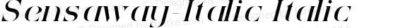 Sensaway-Italic Italic Version 1.0