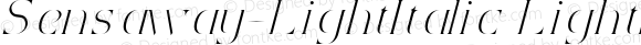 Sensaway-LightItalic LightItalic Version 1.0