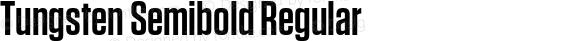 Tungsten Semibold Regular preview image