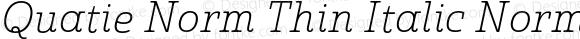 Quatie Norm Thin Italic Norm Thin Italic