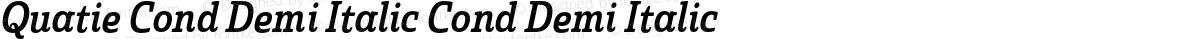 Quatie Cond Demi Italic Cond Demi Italic