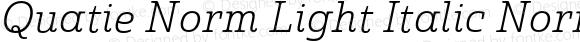Quatie Norm Light Italic Norm Light Italic