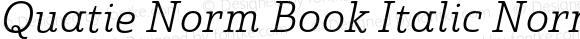 Quatie Norm Book Italic Norm Book Italic