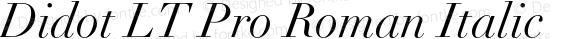 Didot LT Pro Roman Italic Version 1.01