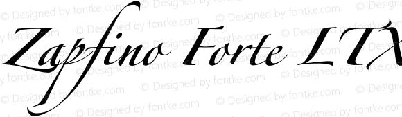 Zapfino Forte LTX One Regular Version 1.000;PS 001.000;Core 1.0.38
