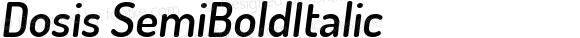 Dosis SemiBoldItalic