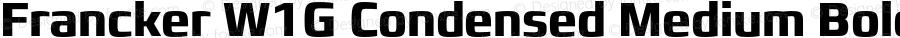 Francker W1G Condensed Medium Bold Version 1.01