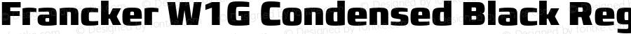 Francker W1G Condensed Black Regular Version 1.01