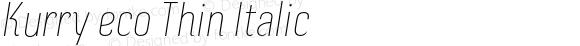 Kurry eco Thin Italic