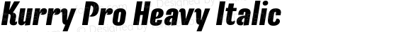 Kurry Pro Heavy Italic