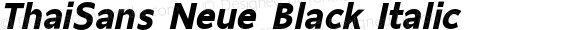 ThaiSans Neue Black Italic