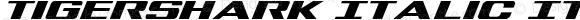 Tigershark Italic Italic Version 1.0; 2013