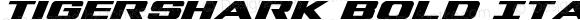 Tigershark Bold Italic Bold Italic Version 1.0; 2013