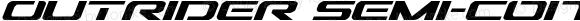 Outrider Semi-Condensed Italic Semi-Condensed Italic