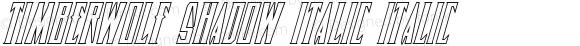 Timberwolf Shadow Italic Italic 002.000