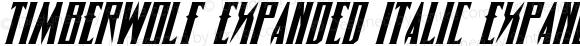 Timberwolf Expanded Italic Expanded Italic 002.000