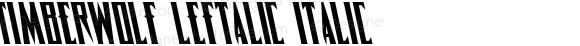 Timberwolf Leftalic Italic 002.000