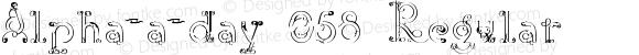 Alpha-a-day 058 Regular Version 3.00 December 25, 2012