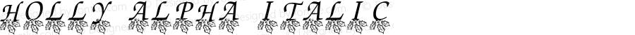 Holly Alpha Italic Version 2.00 October 14, 2010