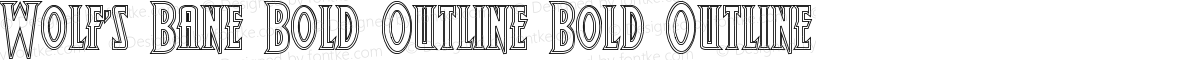 Wolf's Bane Bold Outline Bold Outline