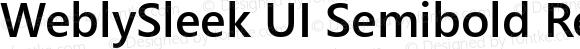 WeblySleek UI Semibold Regular