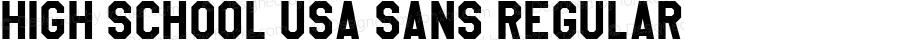 High School USA Sans Regular Version 1.000 2013 initial release