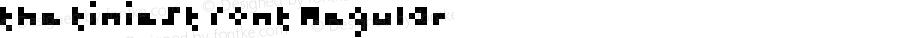 the tiniest font Regular Version 1.0