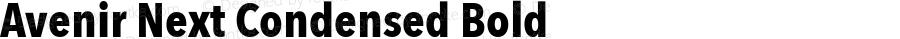 Avenir Next Condensed Bold 8.0d5e4