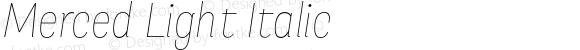 Merced Light Italic