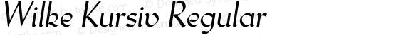 Wilke Kursiv Regular