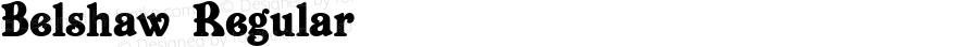 Belshaw Regular Macromedia Fontographer 4.1 03.06.01