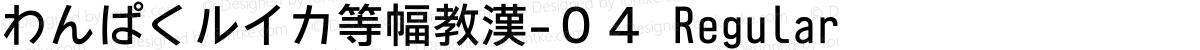 わんぱくルイカ等幅教漢-04 Regular
