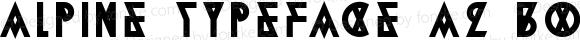 Alpine Typeface A2 Bold Unknown