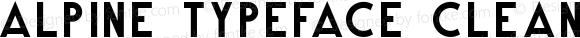 Alpine Typeface Clean Bold Unknown