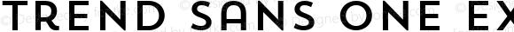 Trend Sans One Extra-Light Version 1.0